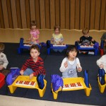 Children experience a variety of instruments